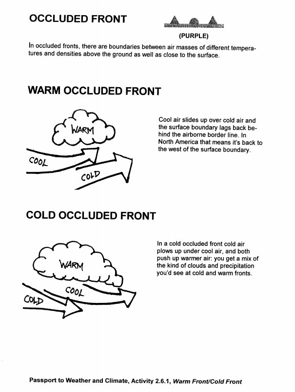 Printables Weather Fronts Worksheet science concepts in context educators student worksheet
